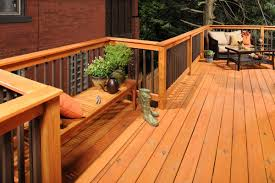 cedar decking ideas cement patio