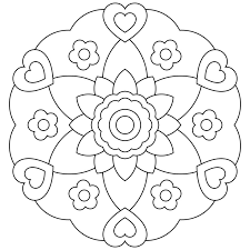 Easy Mandala Coloring Pages For Girls