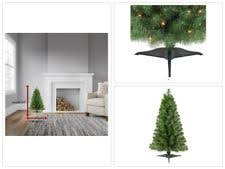 Christmas Trees Prelit Slim by Artificial Christmas Tree Prelit 5 Feet Slim Spruce Green Xmas