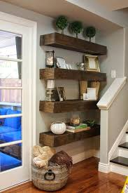 Pallet Corner Shelf Furniture Shelves Design Homemade Wood Wall Rustic Ideas