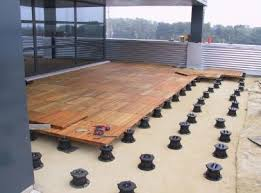 structural deck tiles for uneven surfaces