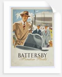 Battersby London Hats Advertisement Poster Walsall Lithographic Company Limited 1930s By Unknown