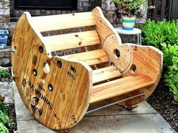 Recycled Spool Rocking Chair