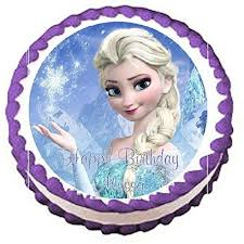 Amazon Frozen Elsa Edible Frosting Sheet Cake Topper 7 5