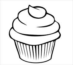 printable cupcake template cupcake drawing template for kids free printable birthday cupcake template