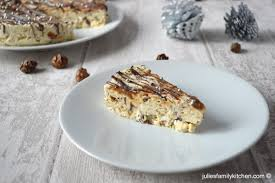 Christmas Tree Meringues Sainsburys by Frozen Chocolate Caramel Cream Meringue Cake Julie U0027s Family Kitchen