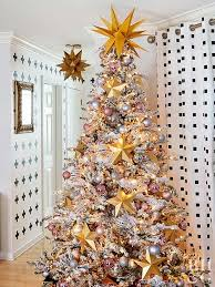 Gold Christmas Tree With Stars