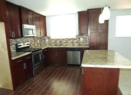 Wood Tile Kitchen Porcelain Look Floor Images Ideas With Light Cabinets