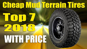 7 Best Cheap Mud Terrain Tires With Price2018 - YouTube
