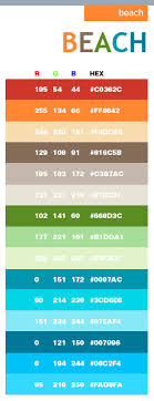 Beach In Hex And Rgb Code