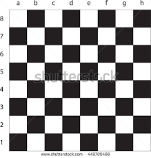 Vector Modern Empty Chess Board Background With Letters And Numbers Ready Layout For Your Design