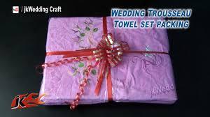 Purple Decorative Towel Sets by Diy Wedding Trousseau Towel Set Packing How To Pack Jk Wedding