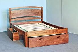 Charming Queen Platform Bed Storage Solid Wood Platform Bed Frame
