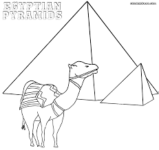 Egyptian Pyramids Coloring Pages