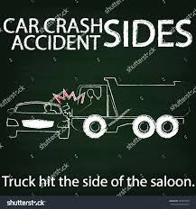 Sign Car Crash Accident On Side Stock Vector (Royalty Free ...