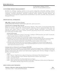 Customer Service Manager Resume Objective Examples For Stunning Example Of A