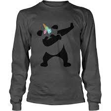Dabbing Panda Ice Cream Unicorn Funny Pandicorn Tee Shirt