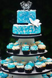 Summer Blue Wedding Cupcake