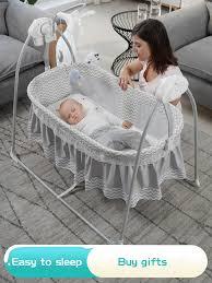 neugeborenen schaukel stuhl mit musik baby elektrische wiege