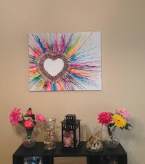 Post Grad Crafting Crayon Art Heart