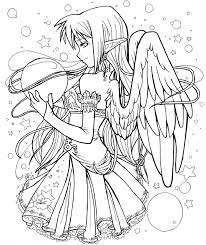 Good Anime Fairy Coloring Pages 57 In Print With