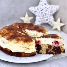 schoko vanille kuchen mit cheesecake creme licious