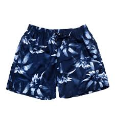 100 Coco Republic Sale Mens Floral Shade Board Shorts In Navy Blue