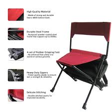 Zenree Portable Camping Sports Chair Folding Backpack Chair With Cooler ,  Black Red Combo Yescom Portable Pop Up Hunting Blind Folding Chair Set China Ground Manufacturers And Suppliers Empty Seat Rows Of Folding Chairs On Ground Before A Concert Sportsmans Warehouse Lounger Camp Antiskid Beach Padded Relaxer Stadium Seat Buy Chairfolding Cfoldingchair Product Whosale Recling Seatpadded Barronett Blinds Tripod Xl In Bloodtrail Camo Details About Big Black Heavy Duty 4 Pack Coleman Mat Citrus Stripe Products The Campelona Offers Low To The 11 Inch Height Camping Chairs Low To Profile