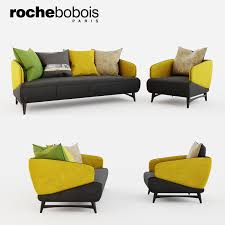 100 Roche Bobois Sofa Bed ARIES Sofa And Armchair 3D Model