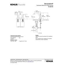 Kohler Bathroom Sink Faucets Centerset by Kohler K 393 N4 Cp Devonshire Polished Chrome Two Handle Centerset
