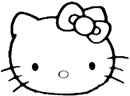 Coloring Pages Kids Hello Kitty Face Print