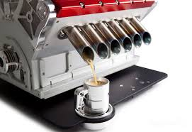 Engine Shaped Coffee Machine
