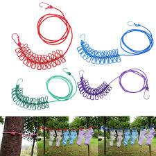 boutique la corde a linge 1 9 m portable durable élastique corde à linge coupe vent