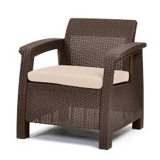 Plastic Patio Furniture At Walmart by Keter Corfu Resin Armchair With Cushions All Weather Plastic