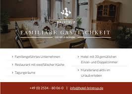 münster roxel hotel restaurant brintrup partner der