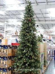 Skinny Pre Lit Christmas Tree Lights Elegant Finest Snowy Slim 7ft Fraser Fir