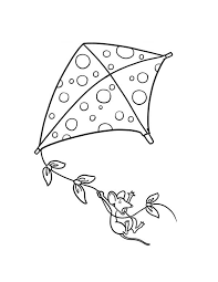Free Printable Kite Coloring Pages And Mouse