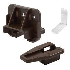 Dresser Mirror Mounting Hardware by Back Brackets U0026 Guide Tracks Drawer Hardware The Home Depot