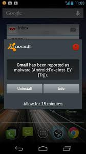 Popular mobile security app Avast marking Gmail Whatsapp others as malware
