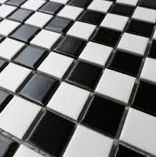 2018 ceramic mosaic tile black and white non slip glazed matt