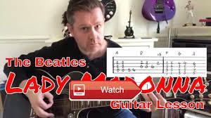Rocket Smashing Pumpkins Tab by Lady Madonna The Beatles Acoustic Guitar Lesson Guitar Tab Lady