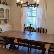 Farmhouse Dining Room Table Bench And Chairs Rustic WoodWorx