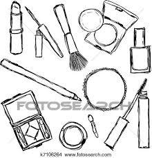 Clipart of cosmetics k Search Clip Art Illustration