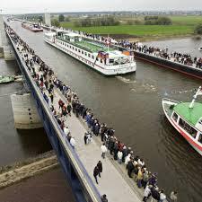 100 Magdeburg Water Bridge Water Bridge German Civil Engineering