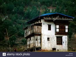 100 House Earth Bhutan Traditional Wooden Rammed Earth House With A Roof Covered