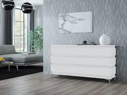 zebra kommode sideboard mit füßen matt weiß schwarz sonoma 160 cm esa home