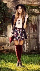 Naughty Teenage Boho Outfit Idea For Winter