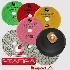 stadea 4 polishing pads for granite marble concrete