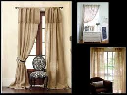 Smocked Burlap Curtain Panels by Burlap Curtain Design Ideas Pictures Remodel Youtube