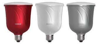 Pulse LED light bulb hides JBL multi channel wireless speaker